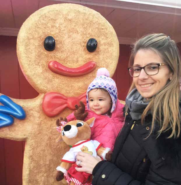 Christina and our niece at Christmas