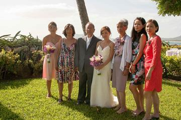 ANNIE'S FAMILY AT OUR WEDDING