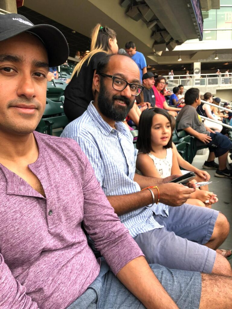 BASEBALL GAME WITH NEEL'S BROTHER & NIECE