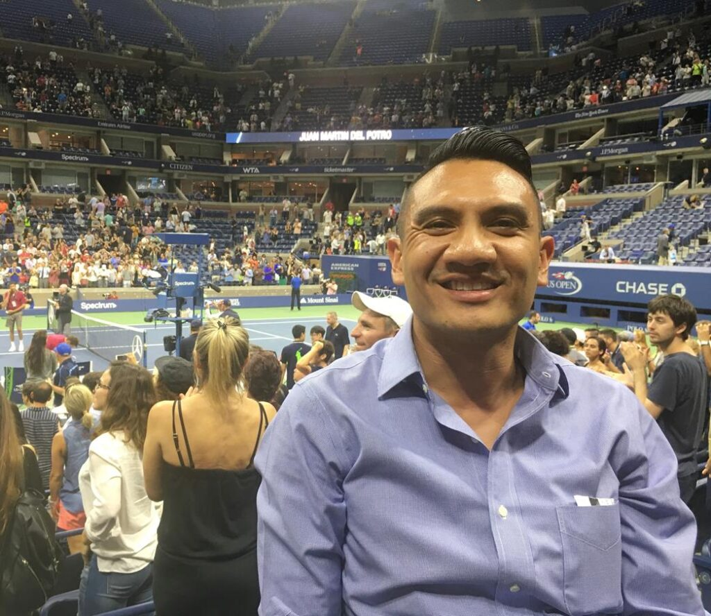 AT THE US OPEN
