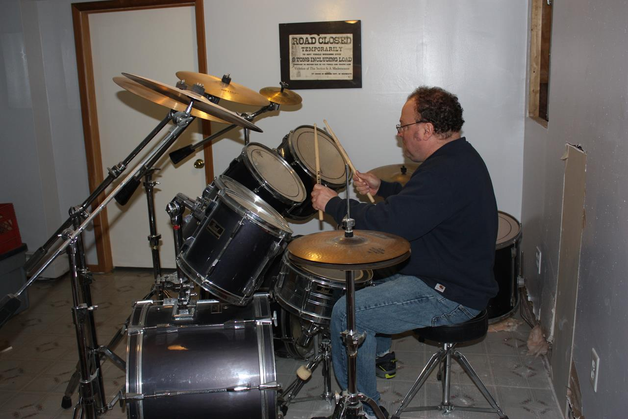 BRIAN HAS PLAYED THE DRUMS SINCE HE WAS VERY YOUNG
