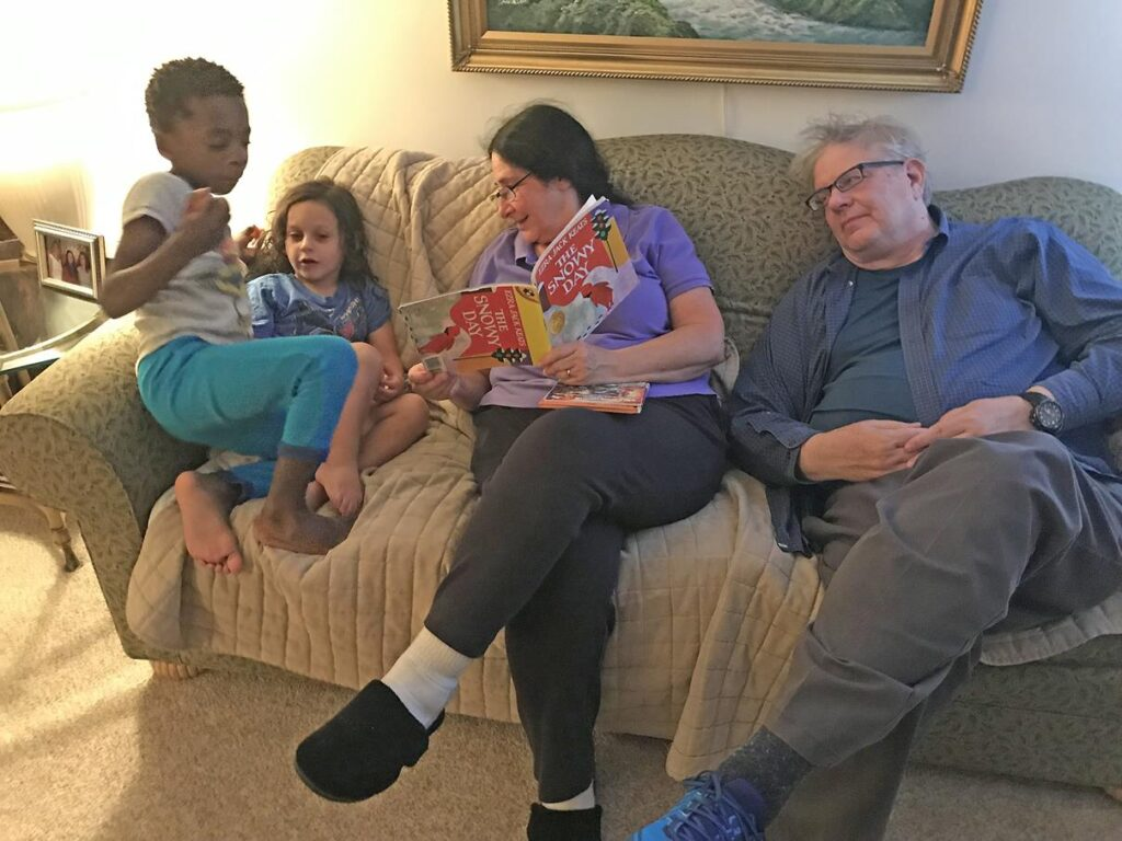 Joel's parents love spending time with the kids