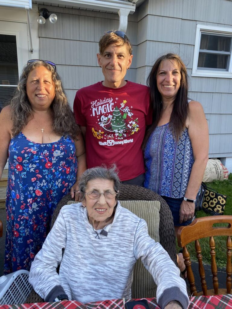 NICOLE'S GRANDMOTHER WITH HER AUNT, UNCLE, AND MOTHER