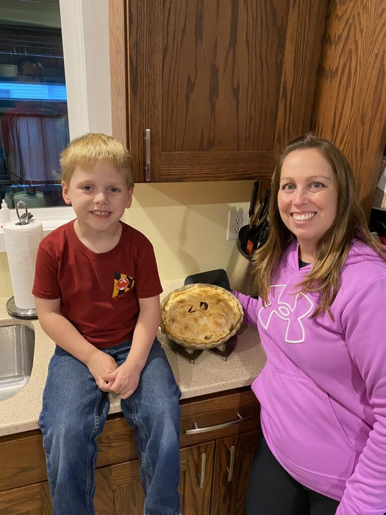BAKING APPLE PIES IN THE FALL