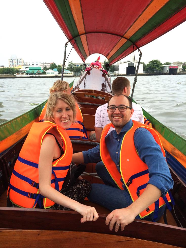 BOATING ON THE RIVER IN BANGKOK, THAILAND