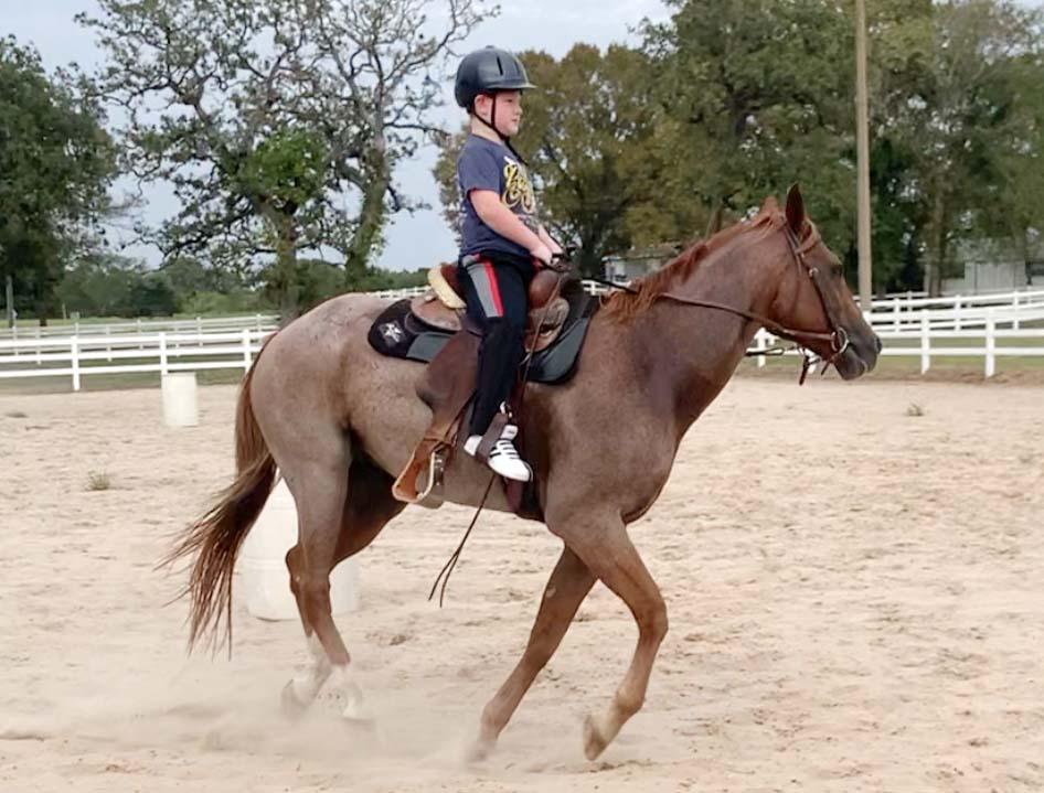 John Wayne riding Red