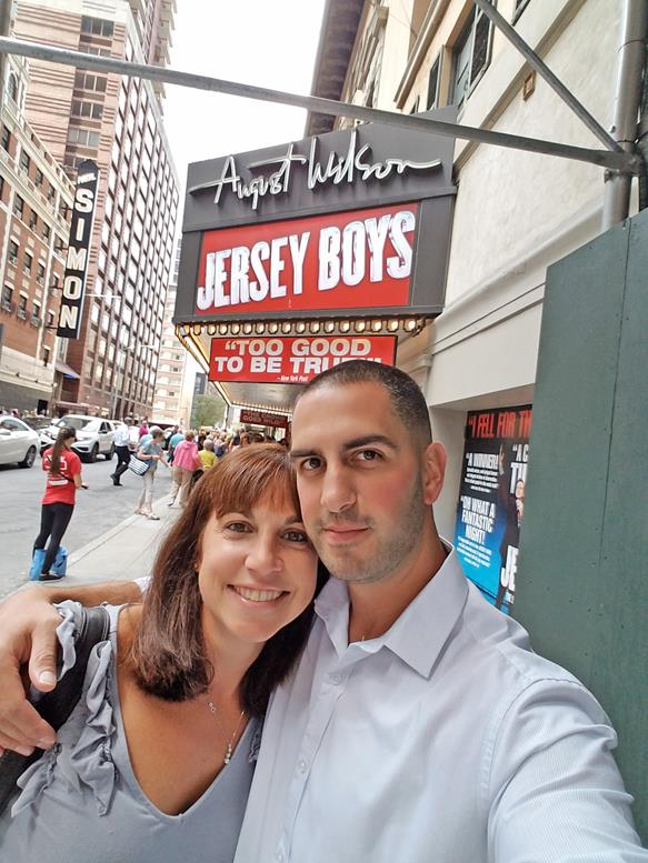LUNCH AND A BROADWAY SHOW JERSEY BOYS WAS GREAT