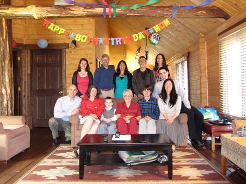 Celebrating with Joe's family on his mom's 80th birthday