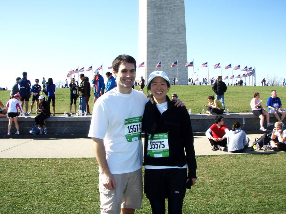 The Cherry Blossom run in Washington, DC