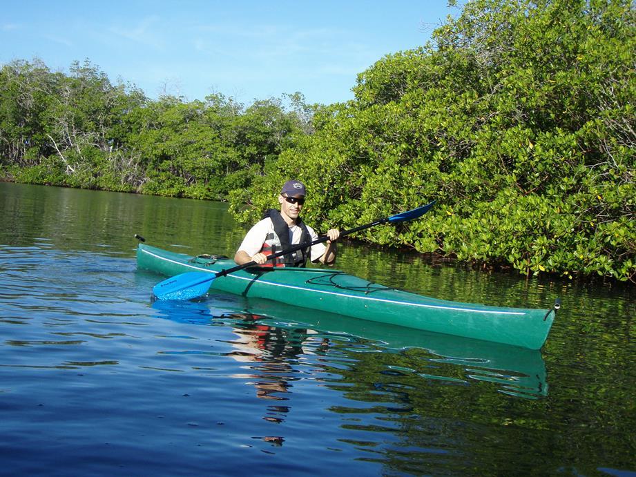 Joe kayaking in Guantanamo Bay