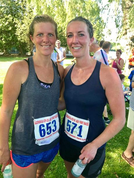 HILLARY AND HER SISTER AT A MARATHON