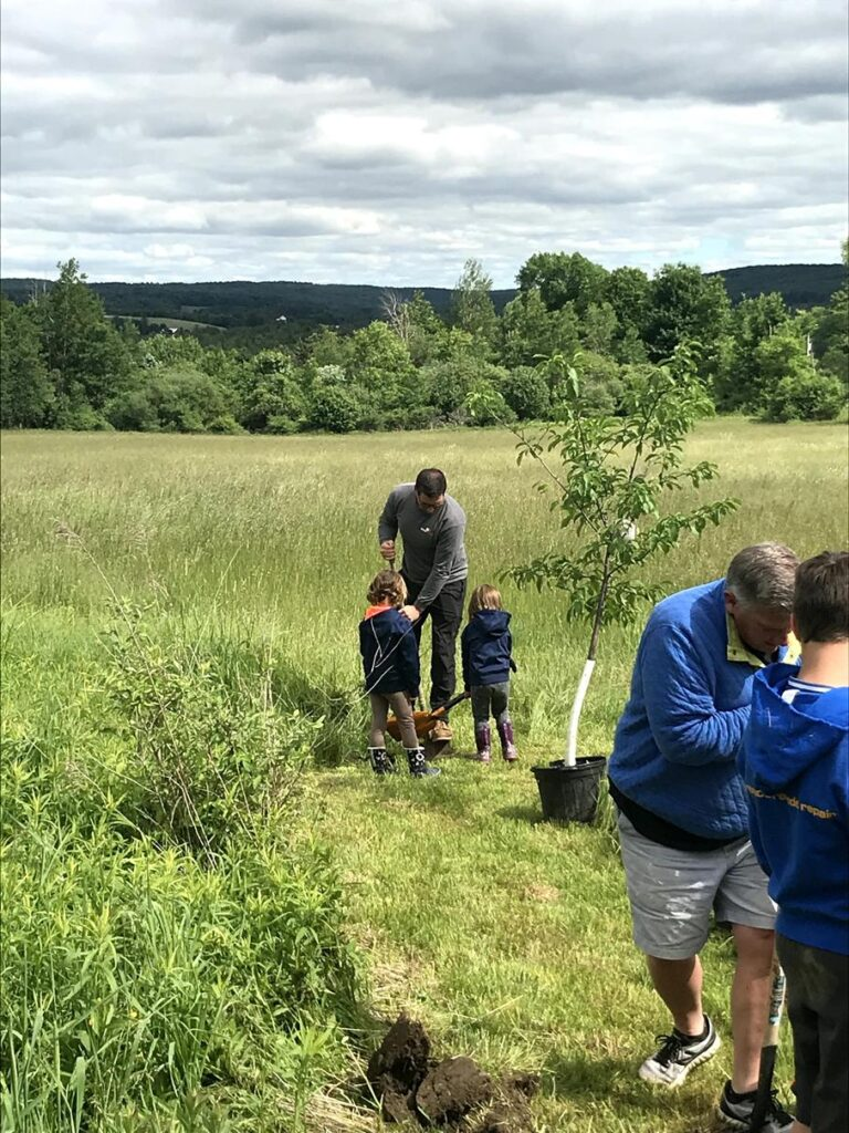 PLANTING TREES TOGETHER ON OUR PROPERTY
