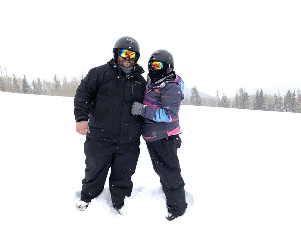 On the slopes in Vail, Colorado