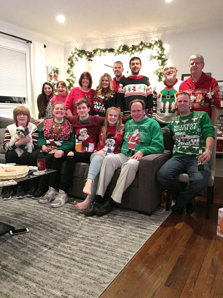Celebrating Christmas with Sara's family