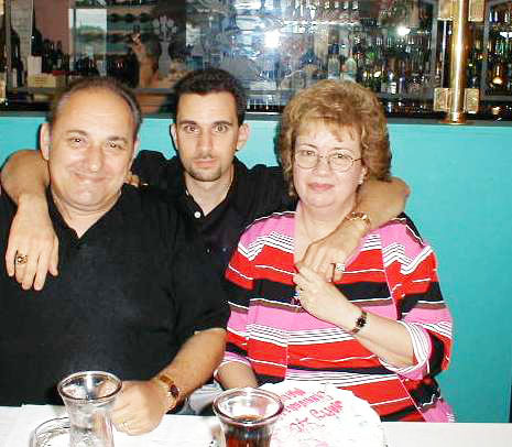 ED WITH HIS MOTHER AND LATE FATHER