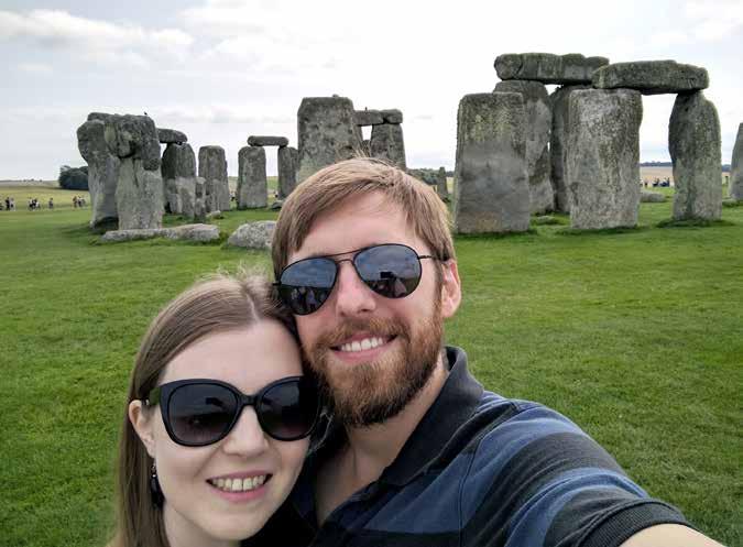 On vacation to visit Stonehenge